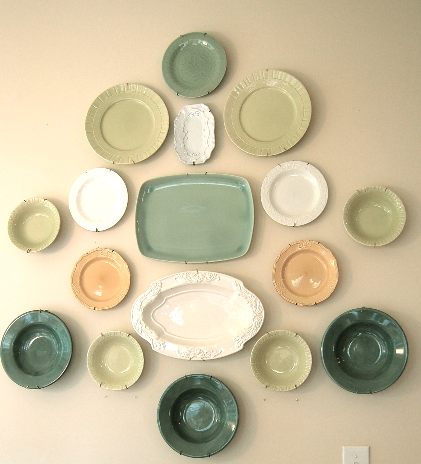 Colorful Plates Wall Art Collection - Wall Art Collections ...