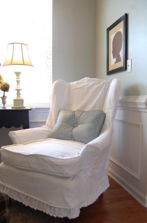 white slipcover