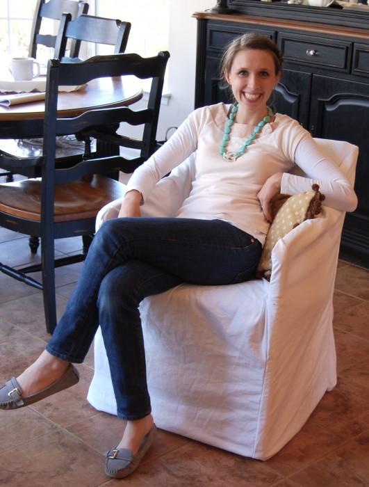 Hereu0027s Twiggyu0027s Slipcoverd Chair~she ...