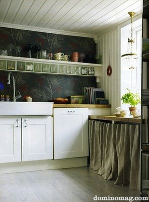 Chalkboard Paint Backsplash using chalkboard in your home :: a linky