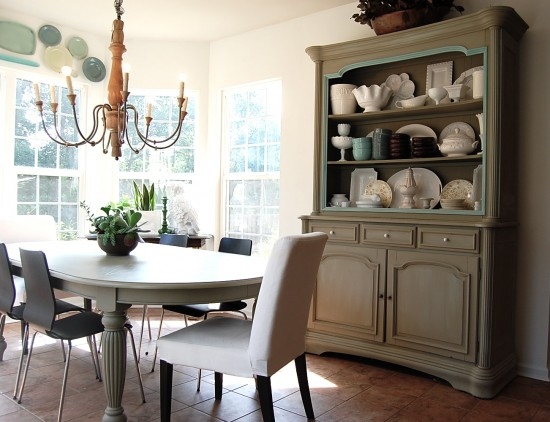 How to paint furniture like a real pro for Painted dining room hutch ideas