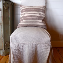 slipcovered parsons chair