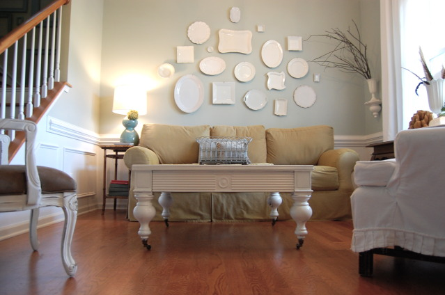 Painting pine furniture - Sherwin williams comfort gray living room ...