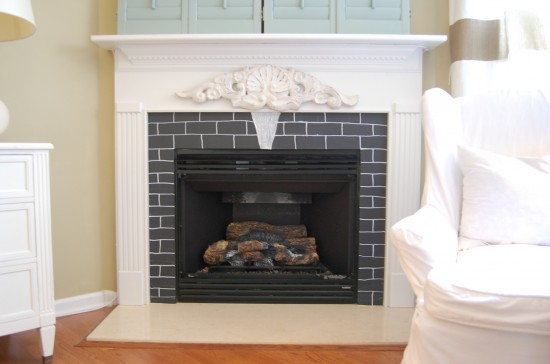 Chalkboard Fireplace Surround A Year Later