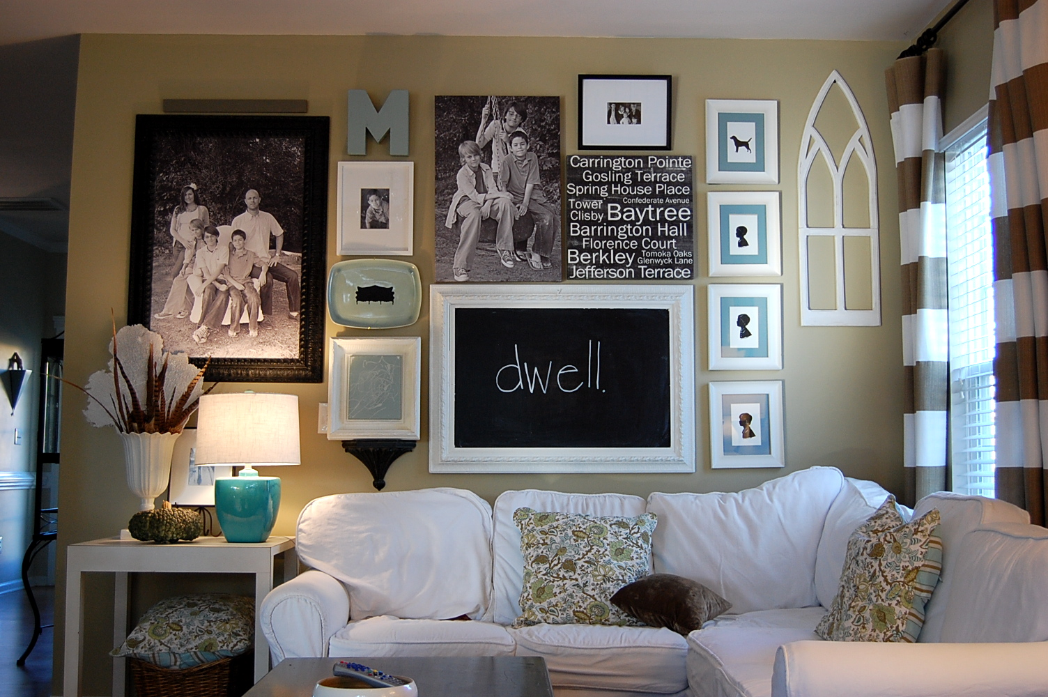 How to make a gallery wall for Family room photo gallery