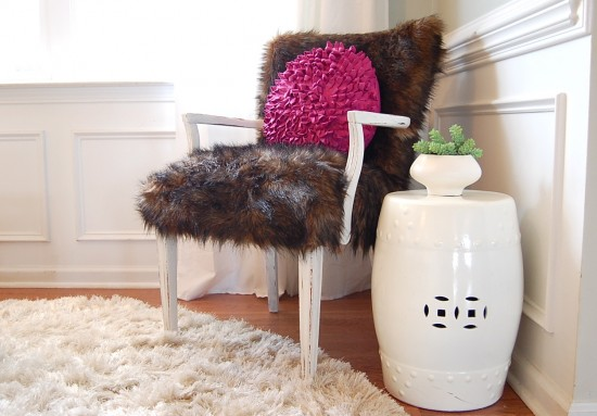 Fur Chair No Sew Reupholstery