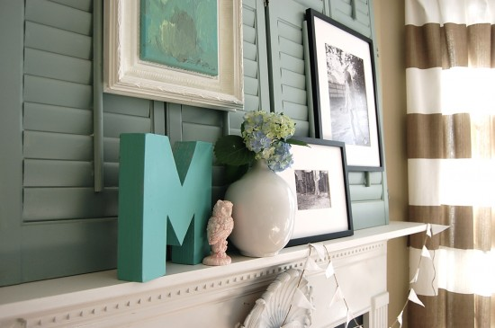 Long lean and layered a summer mantel