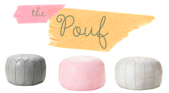 Moroccan Poufs, Pouffes and Poofs