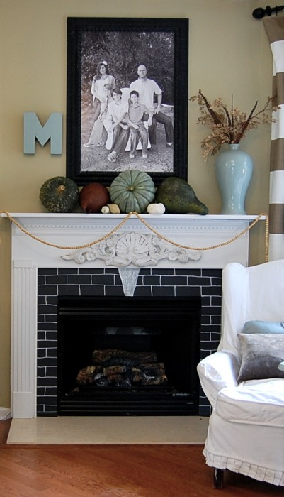 fall mantle arrangement photography - photo #32