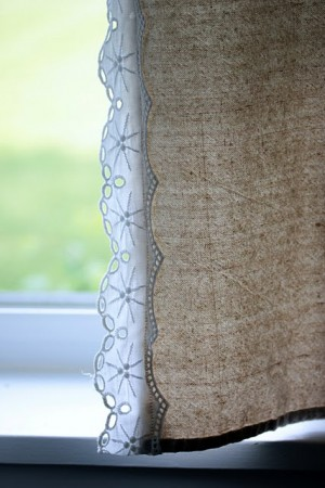 Lace and Drop Cloth Corners