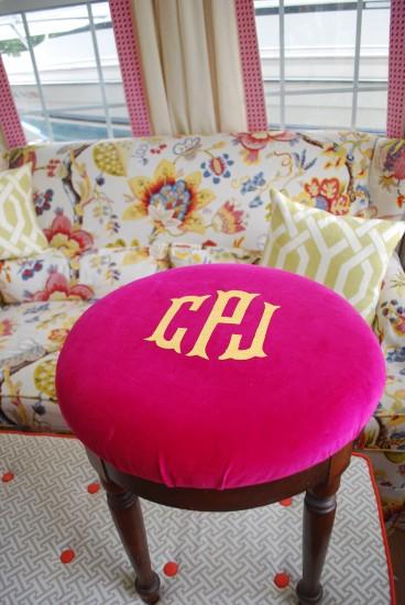 diy no sew fabric applique monogram
