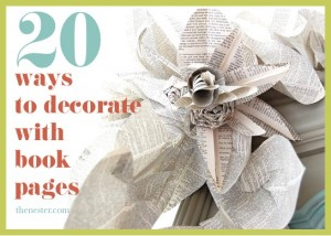 decorate with book pages