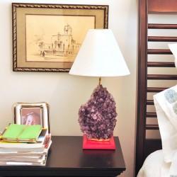 DIY Agate Lamp