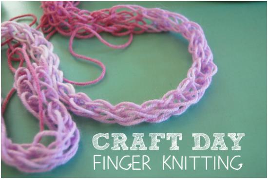 Craft Day Finger Knitting
