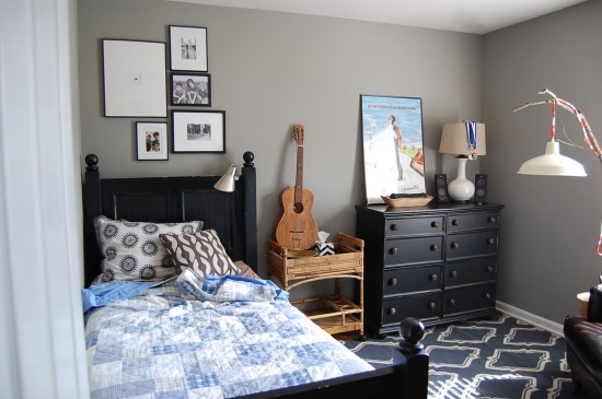 Creating A Teenage Boys Room By Shopping The House
