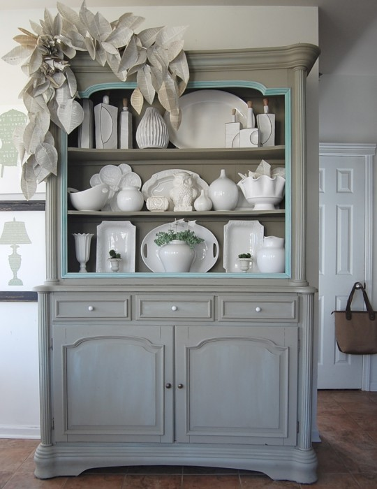 Nesting place decorating blog for Painted dining room hutch ideas