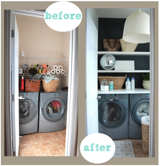 Nesting place decorating blog for Laundry room redo blog