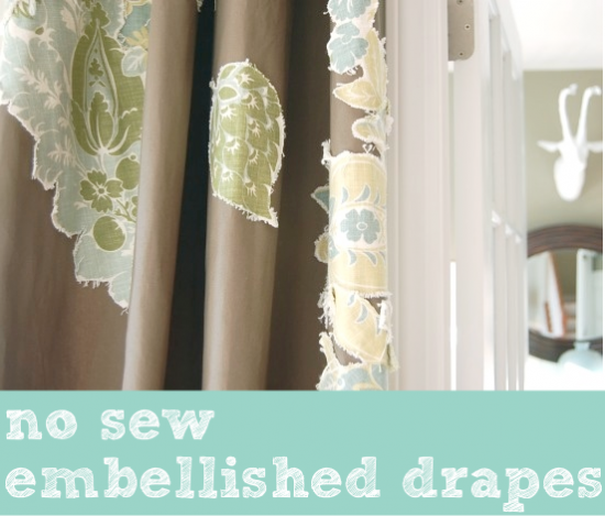 no sew embellished drapes