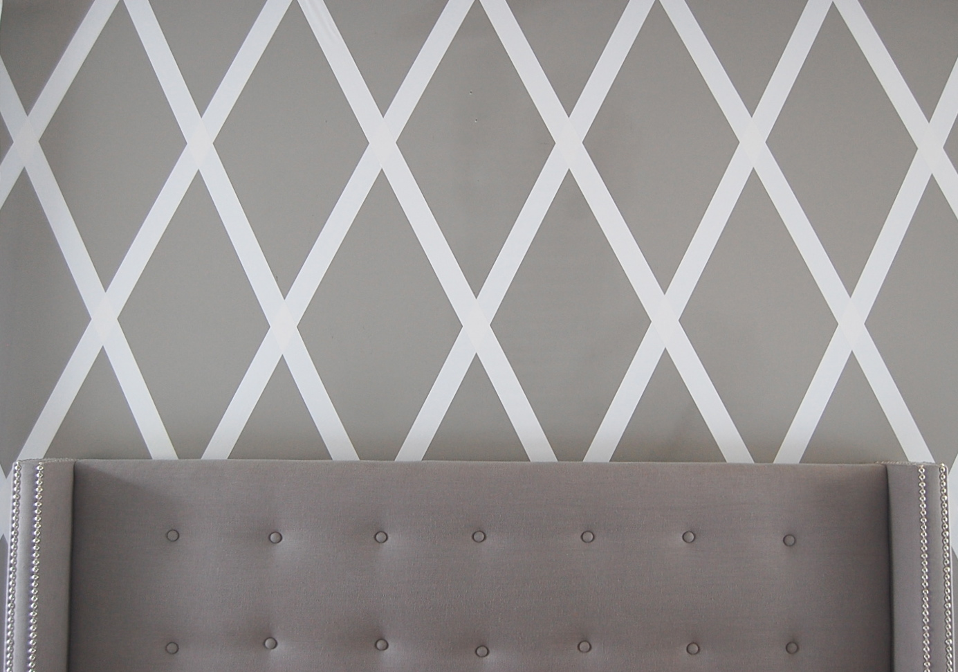 Duct tape wall treatment Painting geometric patterns on walls