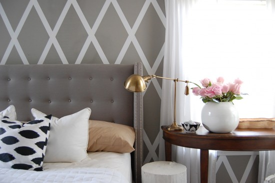 No paint diamond wall for Duct tape bedroom ideas