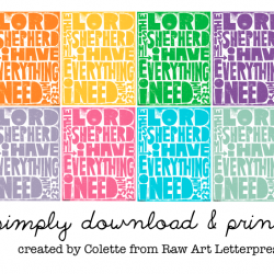 raw art letter press:: the lord is my shepherd