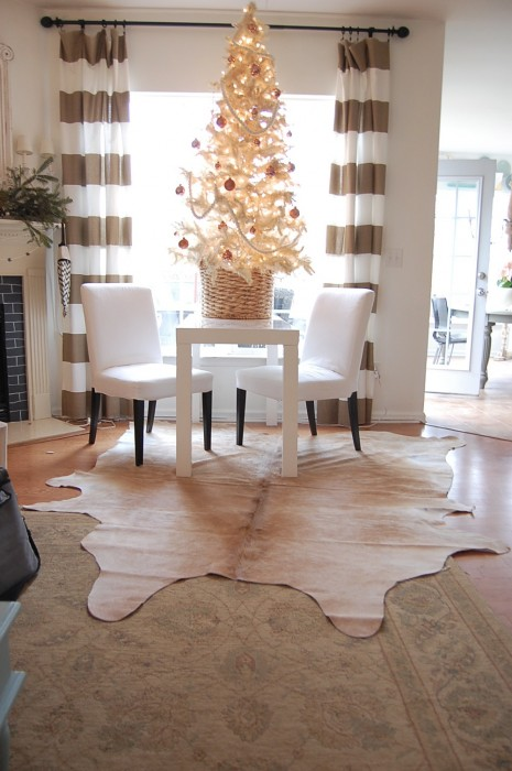 Moving My Sofas Cowhide Rugs Other Family Room Changes