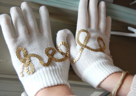 embellished gloves