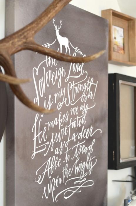 lindsay letters deer canvas