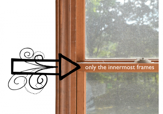 Diy black window frames for How to paint wood windows interior