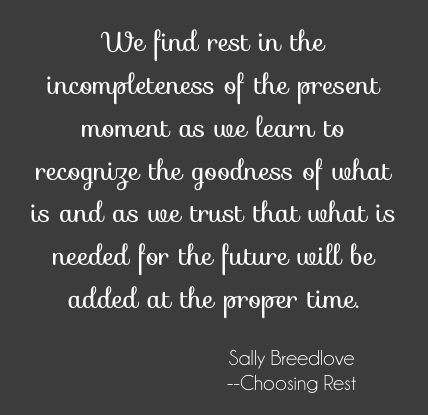 choosing rest