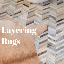 how to layer rugs