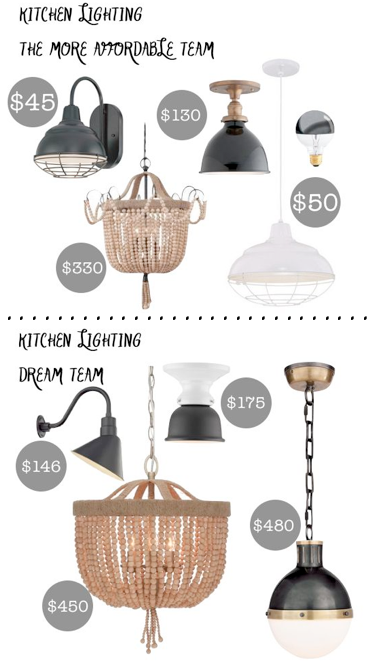 modern/rustic kitchen lighting