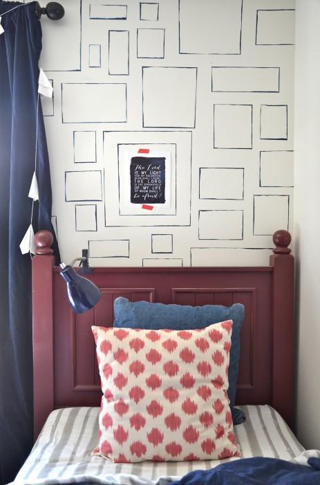 DIY frame wallpaper