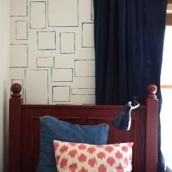 hand drawn frame wall