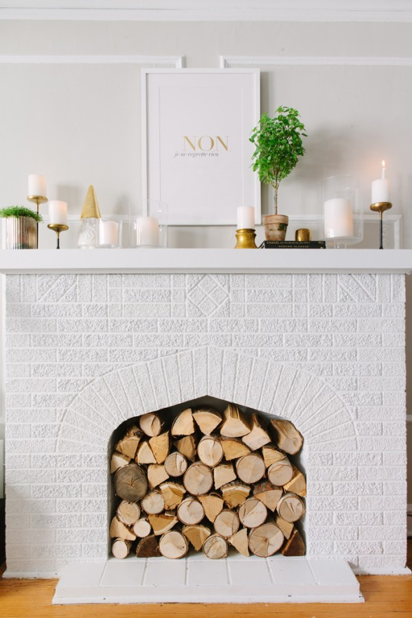summer fireplace