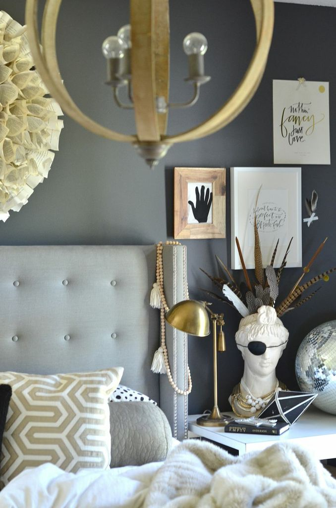 Our wood white and gray bedroom - How much paint do i need for a bedroom ...