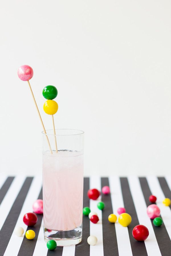 gumball drink stirrers