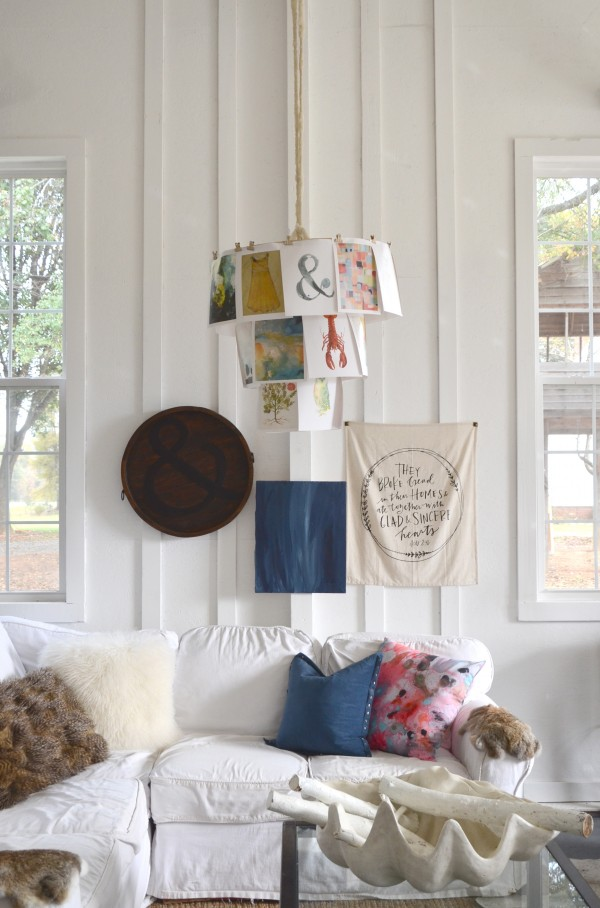 book page hanging fixture