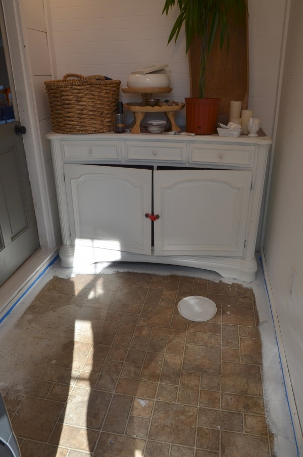 Y  39 all  I didn  39 t even paint under the bottom of the hutch  It  39 s here for now  I painted around it  Same with the washer and dryer  just painted around it. When it  39 s Time to Paint Your Ugly Floor