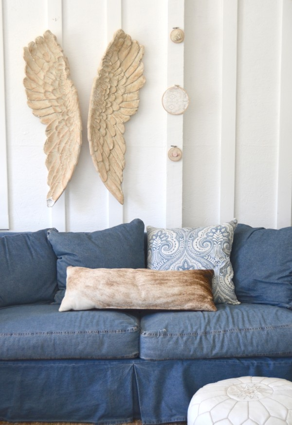 the barn denim sofa