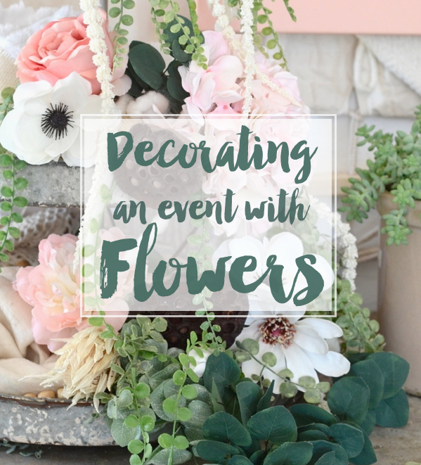 decorating an event with flowers