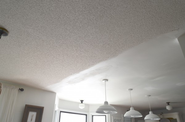 Popcorn Ceilings How We Fake Planked Them - Can you put beadboard over popcorn ceiling