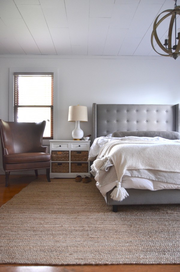 gray bed