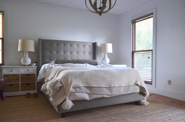 gray bed wide
