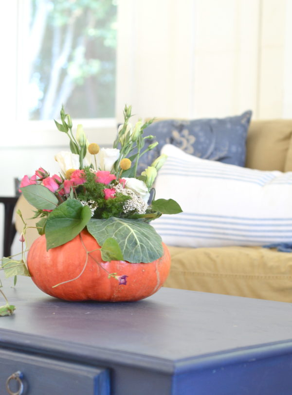diy easy pumpkin centerpiece