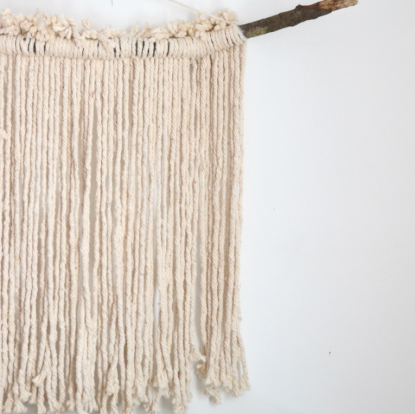 diy wall hanging with a mop