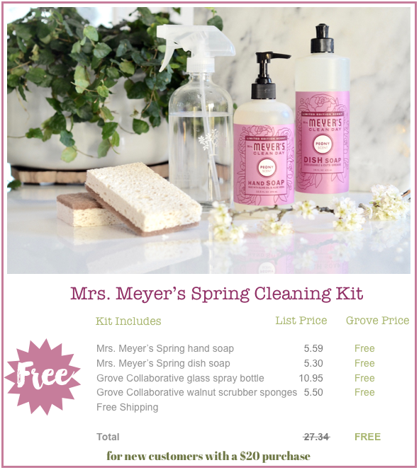 It S Time The Free Mrs Meyer S Cleaning Kit Is Here