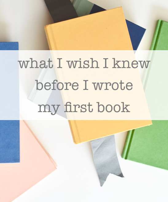 BEFORE you write your first book