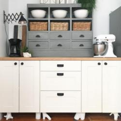 DIY qurky cabinet legs