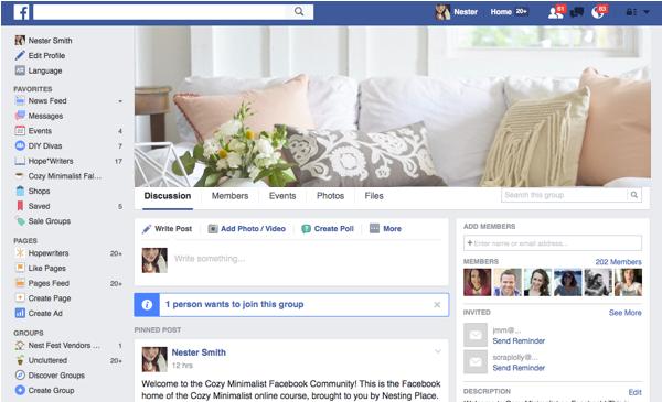 cozy facebook